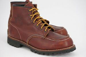 $279 | RED WING x J CREW ROUGHNECK 10.5 D 6-INCH BOOT BROWN GRAIN LEATHER 4183