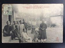 CP carte postale Indochine Annam Hué Gardiennes Tombeau de Tieu Tri