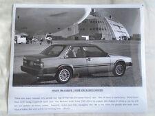 Volvo 780 Coupe press photo brochure c1989