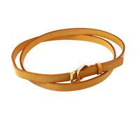 LOUIS VUITTON Logos Waist Belt Beige Leather #S M67300 LB1011 02311