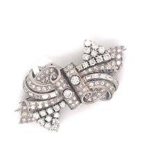 Platinum 6.15 Carat Diamond Brooch Pin