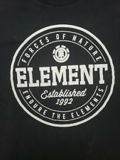 Men's Element Brand Clothing Xl on a Black t-shirt Surf Skate Wind Water