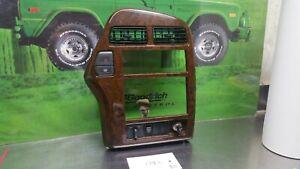 1997-2000 INFINITI QX4 DASH RADIO TRIM BEZEL W/SWITCH WOOD GRAIN OEM SEE PHOTO