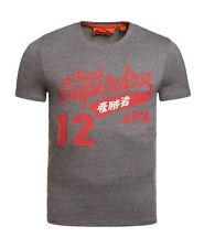 New Mens Superdry Fat Swoosh Reworked Classics T-Shirt Phoenix Grey Grit