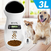 Automatic Pet Cat Dog Feeder 3L Dog Food Dispenser with 4 Meals Voice Recorder