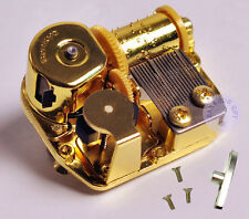 """Play """"Swan Lake"""" Golden Plated Sankyo Musical Movement for DIY Music Boxes"""