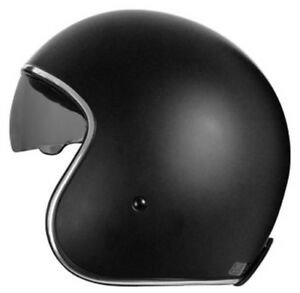 Casco moto JET con gafa solar negro mate especial custom, cafe racer, old style