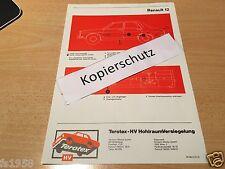 Renault R 12 TL, TS, Gordini - Terotex Hohlraumversiegelungsplan