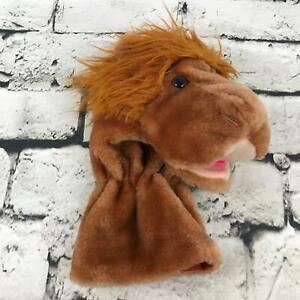 Vintage Dunlop Lion Head Hand Puppet Brown Plush Soft Pretend Play Toy
