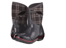 NEW BOGS PLIMSOLL WINTER BOOTS COLD WEATHER BOOTS WOMENS 6 GRAY PLAID -40 DEGREE