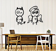 Wall Stickers Vinyl Decal Angel And Demon Decor Funny For Living Room (z2030)
