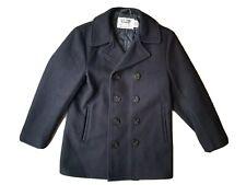 Schott NYC US 740N Wool Naval Pea Coat Jacket Womens 10 Mens 38 Double Breasted