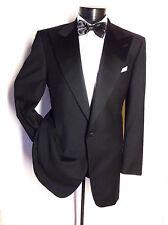 Ermenegildo-Zegna-Tuxedo-Dinner-Jacket-Blazer-Black Peak Lapel 44R super 100'S