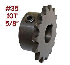 "10T Tooth #35 Sprocket Gear with 5/8"" Bore for Jackshaft Mini Bike Go Kart - New"