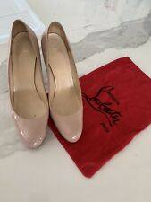 Christian Louboutin So Simple Pump 120. nude patent size 42
