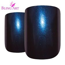 Bling Art False Nails Blue Green Purple Chameleon Colour Change Fake Medium Tips