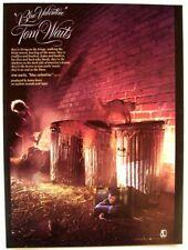 TOM WAITS 1978 vintage POSTER ADVERT BLUE VALENTINE Asylum Records