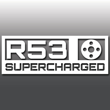 1x Mini Cooper S R53 Supercharged Car Vinyl Decal Sticker | JCW | GP | Boost