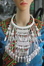 New style Exotic Tribal chinese handmade miao silver tassels necklace 1piece