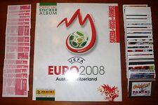 ALBUM PANINI UEFA EURO 2008 ED. SVIZZERA + SET COMPLETO 555 FIGURINE STICKERS