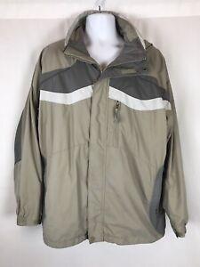 Columbia Interchange Mens Jacket Size XL Waterproof Full Zip Removable Hood