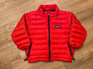 Kids PATAGONIA Puffer Jacket Red Zip Up Size 2T