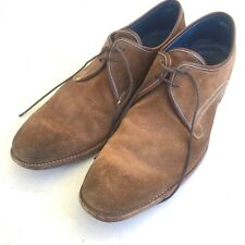 169c6c3e88be2 Barker England Mens 11 F Suede McQueen Shoes Tan Waxy Snuff Roughout