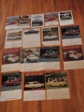 "Vtg 1960s Buick Opel Kadett Car Ad Lot of16 Automobile 8x11""&10 1/2x13 1/2"" Qa19"