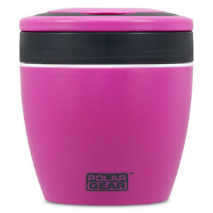 Polar Gear Reheat Me Food Pod, Berry & Black Lunch Storage Cutlery Container