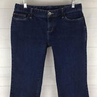 Eddie Bauer Womens Size 6 Slim Stretch Solid Dark Wash Curvy Straight Leg Jeans