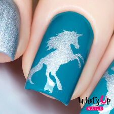 Unicorn Stencils for Nails, Nail Stickers, Nail Art, Nail Vinyls