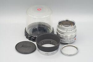 Leica Summilux 50mm f1.4 V1 M Mount Lens with UVa Filter XOOIM Hood & Bubble Cas