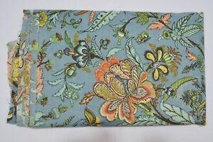 Handmade Coton Indien Course Desseré Couture Tissu Imprimé Floral 2.7m