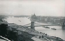 HONGRIE c. 1940 - Panorama de Budapest Le Danube Le Pont des Chaines  - DIV 8116
