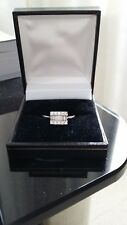 18ct white gold diamond engagement ring 0.54 carat. Size L