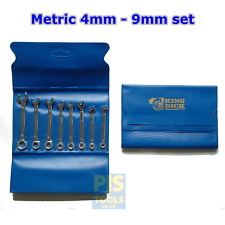 King Dick Tool TKCM 8M 8pc 4-9mm mini combination spanner set stubby short