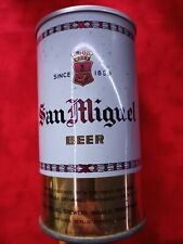 San Miguel Beer Steel Top Opened Pull Top Can. Manila Philippines