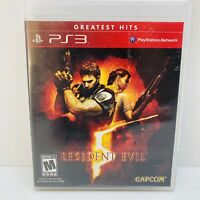 Resident Evil 5 (Sony PlayStation 3 PS3, 2009) Complete W/ Manual - Tested!