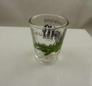 Louisiana gator jazz band riverboat shot glass collectible