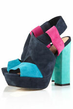 Topshop Suede Upper Block Heels for Women
