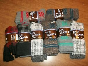 Wise  Blend, boot length womens merino wool snowflake  socks 6 pair USA