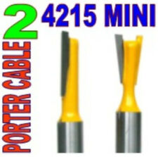 "2 pc 1/4""Sh Dovetail 7° Router Bit Set For Porter Cable 4215 Mini"