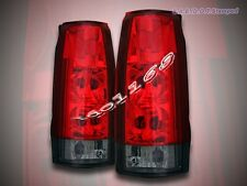88-99 GMC Chevy Full Size Sierra 92-99 Tahoe Yukon Tail Lights Red Smoke