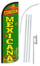 Mexican Food Flag Banner Sign 3' Swooper Flutter Feather Comida Mexicana