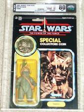Vintage Star Wars 1985 RARE TEEBO EWOK AFA 80/85/85 POTF 92 Back KENNER Card MOC