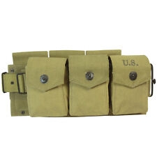 US Army M1942 BAR AMMO BELT Khaki Canvas Webbing - WW2 Repro Military Field Gear