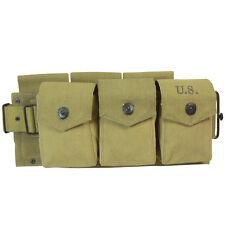 US Army M1942 BAR AMMO BELT Khaki Canvas Webbing - WW2 Repro Military Field Gear