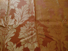 Vintage Copper Brocade Fabric~ early 1900~ pillows millinery lamps totes