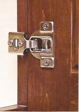 """10 Pair-(20 Hinges) 1/2"""" Overlay- 3 Way- Adjustment Compact Hinges- With Screws"""