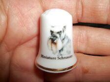vintage Miniature Schnauzer Dog Collectible ceramic Thimble figurine Lim.Edition
